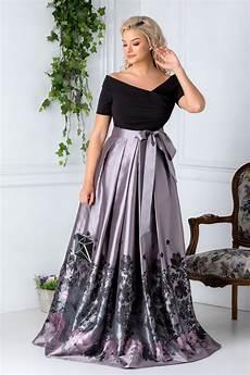 modele de rochii rochie gri lunga cu imprimeuri fucsia