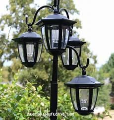 Solar Lighting Jobs Easy Diy Solar Lights Lamp Post With Flower Planter