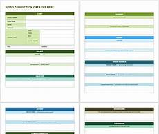 Video Project Template Free Creative Brief Templates Smartsheet