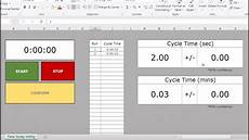 Time Study Templates Excel Time Study Template Download Link Youtube