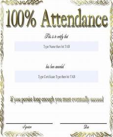 100 Attendance Certificate Template 31 Award Certificates In Word Format