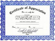 Free Certificates Of Appreciation Templates Certificate Of Appreciation History Grand Rapids