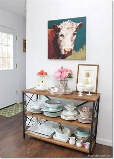 60 rustic farmhouse console table for our kitchen