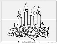 advent wreath coloring page free recipes sketch