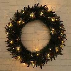 Outdoor Christmas Wreaths With Led Lights Led Light Wreath Holiday Wreath Christmas Garland