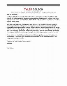 Cover Letter For Security Position Best Security Officers Cover Letter Examples Livecareer