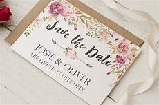 Save The Date Card Design Peony Floral Garland Design Save The Date Cards By Peach