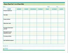 5 Year Old Chore Chart Printable Pin On Organization Tips For Families