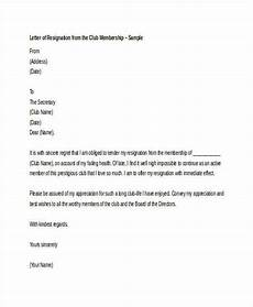 Club Resignation Letter Free 6 Membership Resignation Letter Samples And