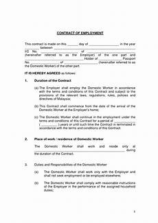 Bill Format For Works Contract Free Printable Employment Contract Sample Form Generic
