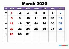 March 2020 Printable Calendar With Holidays March 2020 Desktop Calendar Monthly Free Printable 2020