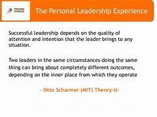 Describe A Leadership Experience The Personal Leadership Experience Nov 16 Sum En