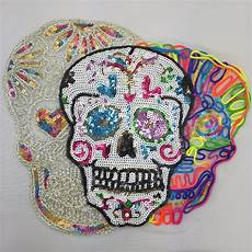 sequins patch skull diy clothes patches for clothing sew