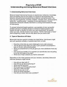 Behavioral Interview Star Prep To Be A Star Behavioral Based Interviewing