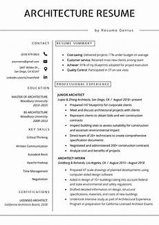 Photo Of A Resume Architecture Resume Sample Free Download Resume Genius