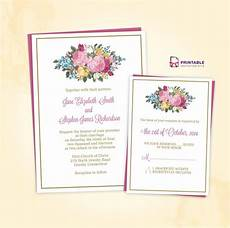 Print At Home Invitations Free Pdf Download Vintage Spring Floral Invitation And