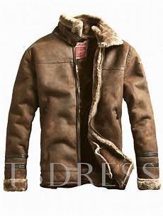 lapel thicken warm vintage zipper slim fit s jacket