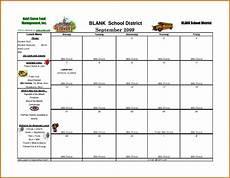 Lunch Schedule Template School Lunch Calendar Template Sampletemplatess