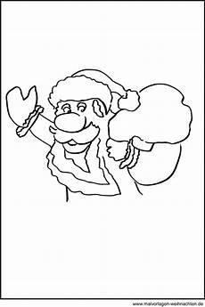 fensterbild weihnachtsmann kostenlose motive und