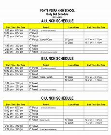 Lunch Schedule Template 8 Lunch Schedule Templates Sample Examples Free