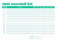 Debt Snowball Calculator Printable Debt Snowball List Pdf