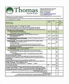 Lawn Care Bid Template 10 Lawn Service Contract Templates Free Sample Example