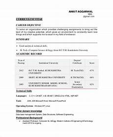 Career Objective For Software Developer Free 10 Sample Objective For Resume Templates In Ms Word