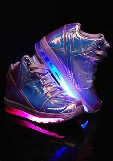 Holographic Light Up Shoes Qozmo Aiire Atlantis Sneakers Light Up Sneakers Shiny