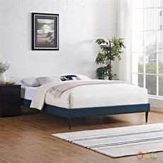 sherry upholstered fabric platform bed frame azure