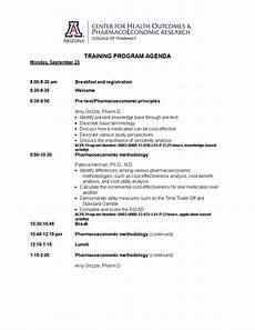 Sample Of Program Agenda Training Program Agenda Example Templates At