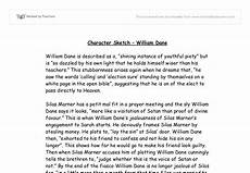 Character Sketch Essay Example Character Sketch William Dane Gcse English Marked By