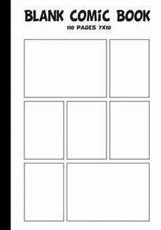 Blank Comic Book Panels Blank Comic Blank Comic Book 7 X10 With 7 Panel