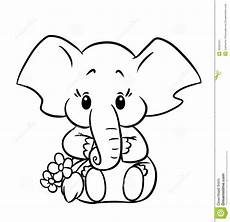 Ausmalbilder Elefant Kostenlos Baby Elephant Coloring Pages To And Print For Free