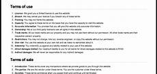 Delivery Terms And Conditions Template Get Free Website Terms And Conditions Template Here