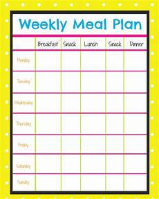 Menu Planner Template Weekly Menu Planner More Excellent Me