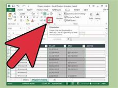How To Create A Timeline In Excel 3 Ways To Create A Timeline In Excel Wikihow