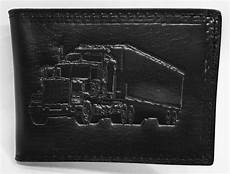 Trifold Or Bifold Truck 18 Wheeler Embossed Trifold Or Bifold Leather Wallet
