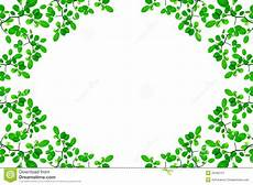 Green Border Design Green Leafs Border Design Stock Illustration Illustration