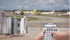 Travel Costs Calculator Travel Cost Calculation Concept By Calculator And Runway