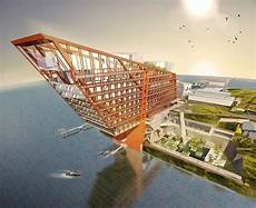 Mona Architecture Design And Planning David Walsh Plans To Build Elevated Skeleton Hotel As An
