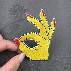 embroidered patch finger patches feminist patch embroidered