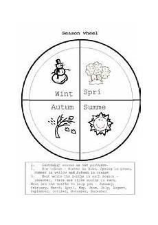 Season Wheel Chart English Worksheets Seasons Wheel