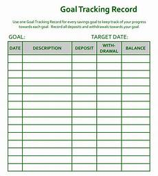 Goal Tracking Chart Free 9 Goal Tracking Samples In Pdf Excel