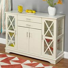 white wood buffet sideboard cabinet with glass display