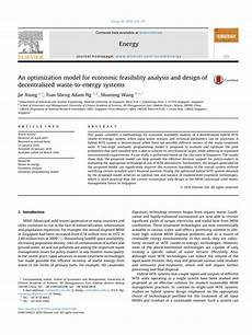 Analysis And Design Of Energy Systems Pdf Download Pdf An Optimization Model For Economic Feasibility