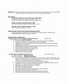 Accounting Objective Resume Free 40 Sample Objectives In Pdf Ms Word