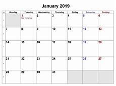 Monthly Word Calendar January 2019 Calendar Calendar Word Monthly Calendar