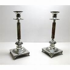 candelieri argento due candelieri ad un fuoco in argento 800 e onice usati