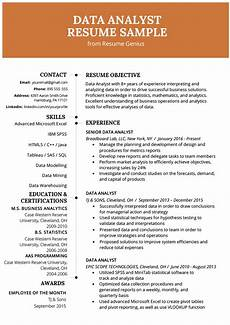 Resume Data Analysis Data Analyst Resume Example Amp Writing Guide Resume Genius