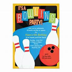 Free Printable Bowling Party Invitations For Kids Retro Bowling Kid S Birthday Party Invitation Zazzle Com